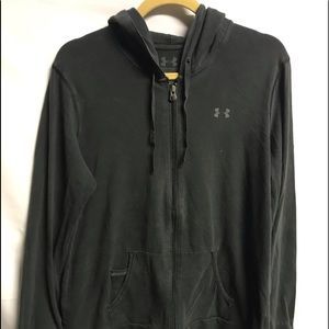 Under Armour Womens Black Hoodie Cotton Charge XL